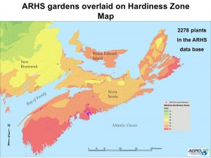 ARHS gardens hardiness zone map